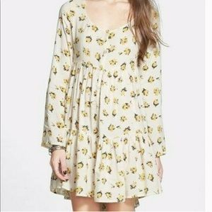 Volcom Floral Nevermore Baby Doll Dress